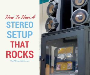 Stereo Setup Infographic