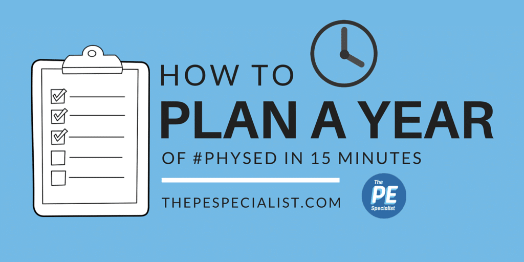 How to Plan a year of Physical Education in 15 Minutes