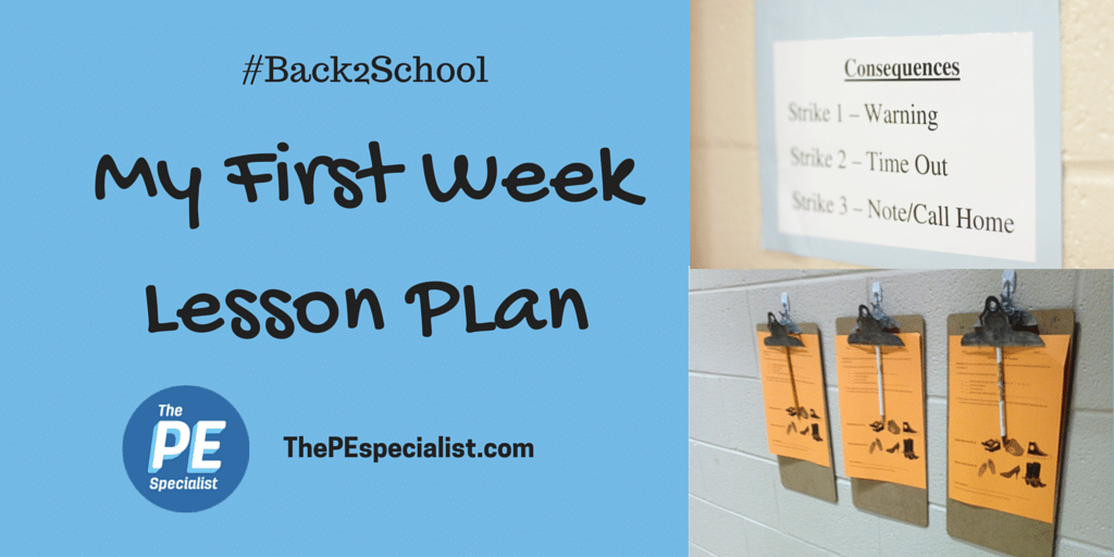 First Week of School Lesson Plan