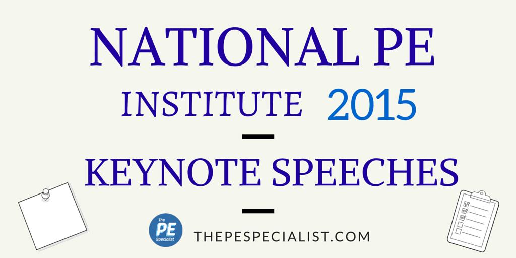 KEYNOTES @ PE Institute 2015 - Blog Graphic