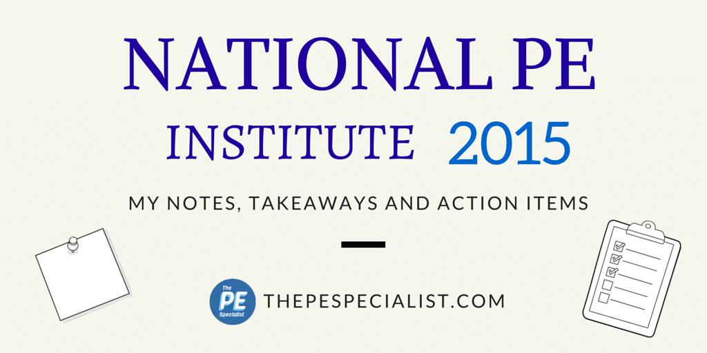 PE Institute 2015 - Blog Graphic