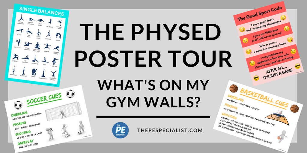 pe poster tour what s on my gym walls visuals for physical