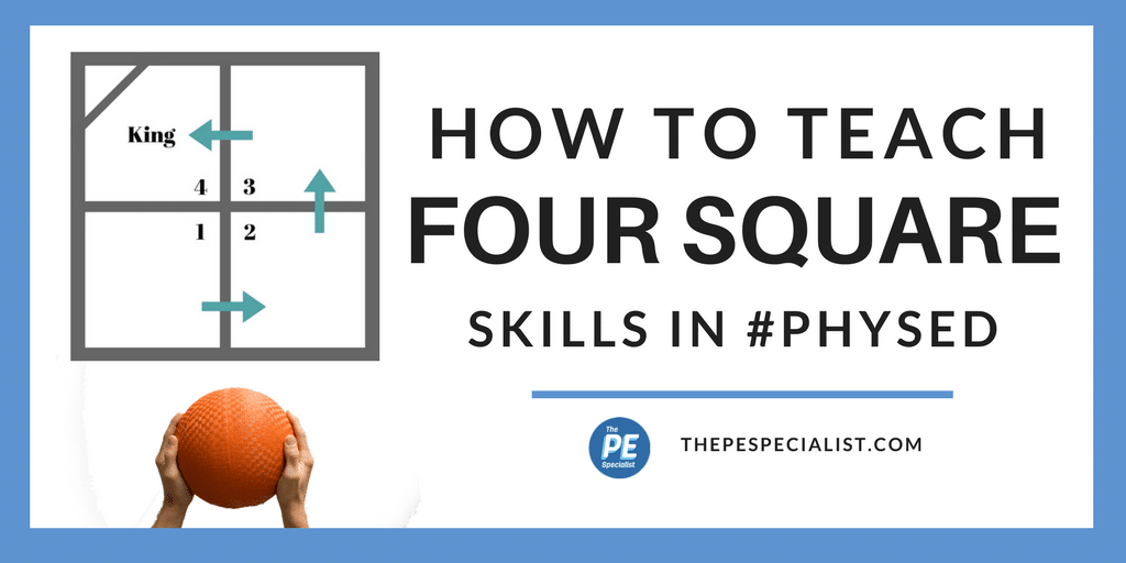 How to Play Four Square (4 Square) in Physical Education Class
